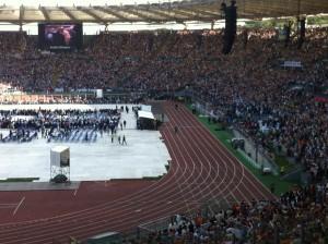 Arrivo del Papa Roma 2014